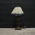 Immagine di lampada da tavolo Liberty base con scultura di donna