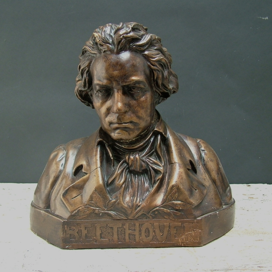 Picture of Plaster cast bust sculpure painted in bronze Beethoven
