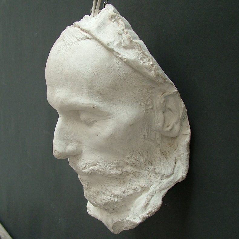 Picture of Death mask in plaster cast n° 2