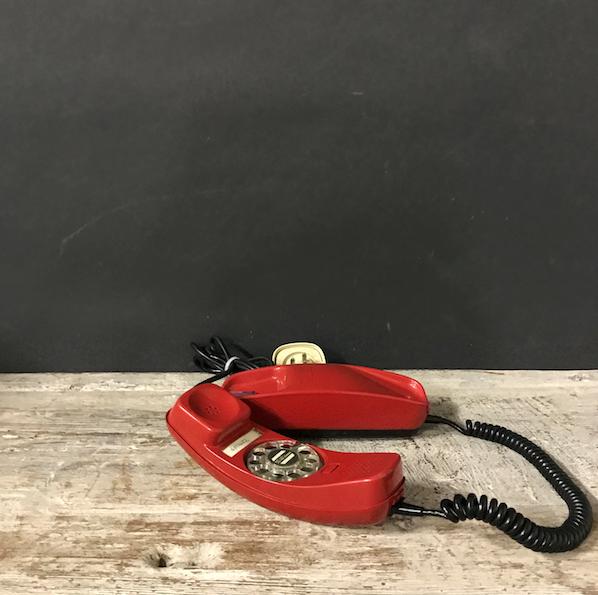 """Immagine di telefono Face Standard """"Gondola"""" rosso anni 70"""