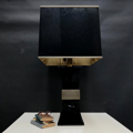 Picture of Gabriella Crespi's black ceramic lamp