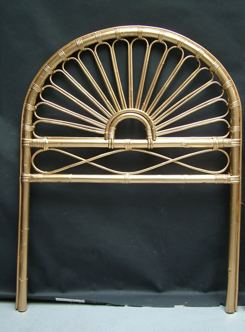 Picture of Bamboo Single Bed painted in gold