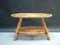 Picture of Oval bamboo coffee table