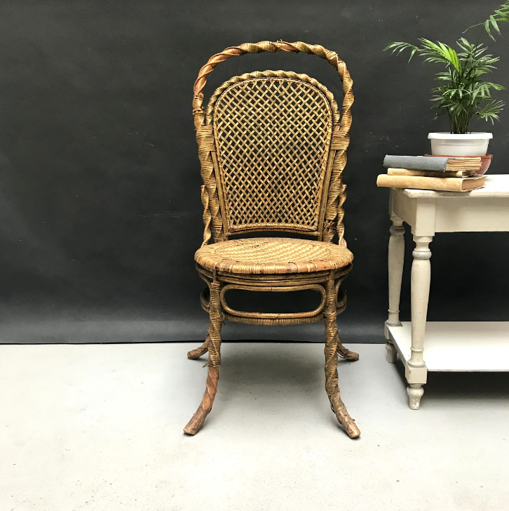 Picture of Golden wicker chair