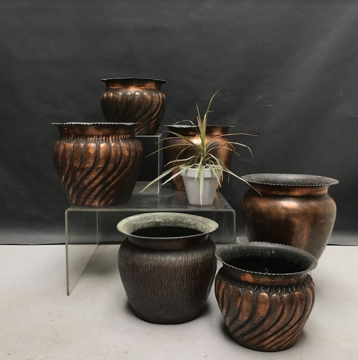 Picture of Midcentury Copper Flowerpot