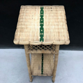 Picture of rattan column with green lines