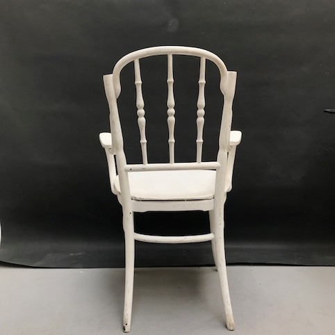 Picture of White chair with armrest in Vienna's style