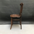Picture of Dark Beech Bentwood chair with slat seatback