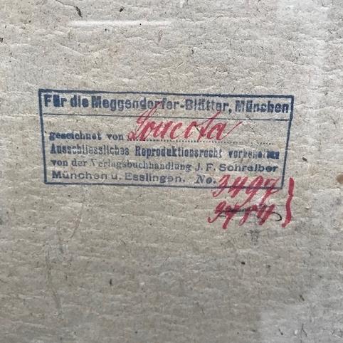 Picture of Illustrazione di Josef Loukota per la copertina del numero del 25° anniversario del Meggendorfer-Blätter