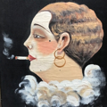 Picture of Painting by B. Camille. Smoker.