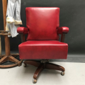 Picture of Office  swivel armchair 40s - bordeaux leather