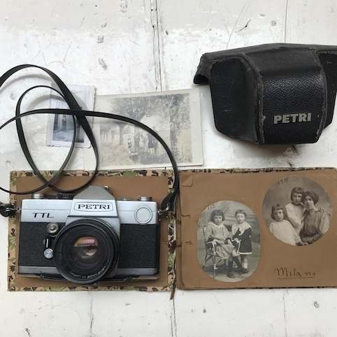 Picture of vintage cameras