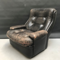 Picture of Black leather armchair from 70s