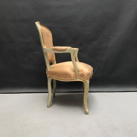 Picture of Louis XV style chair with armrest from 1940s
