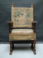 Picture of XVII century walnut and tapestry throne