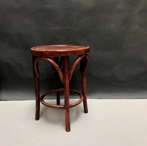 Picture of Mahogany bent beechwood stool