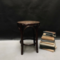 Picture of Dark bent beechwood stool