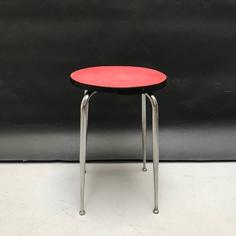 Picture of 1960s red stool