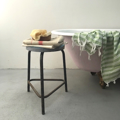 Picture of Stool with light blue Formica seat