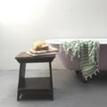 Immagine di Sgabello piemontese fratinato a doppio ripiano
