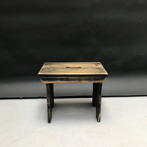 Picture of Replica of a small wooden rustic footstool