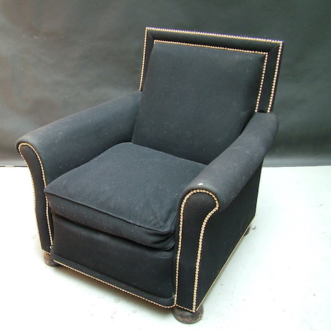 Picture of Black armchair with studs