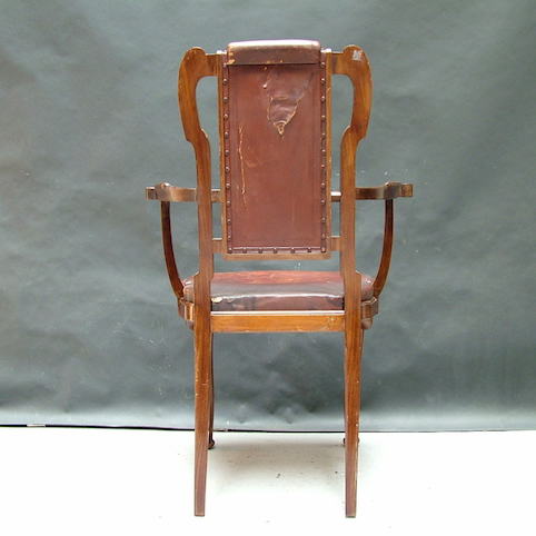 Picture of English  Art Nouveau chair with armrests