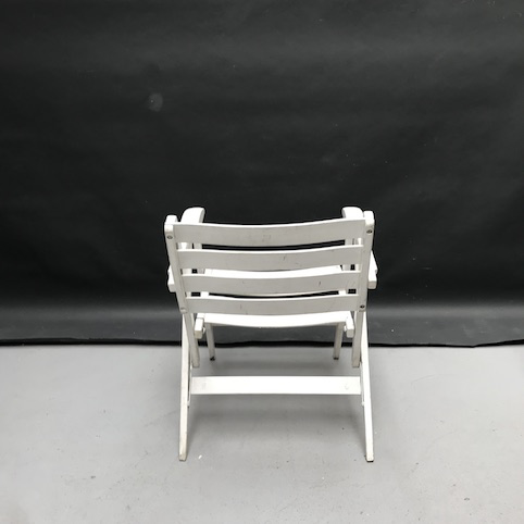 Picture of White folding chair with armrests