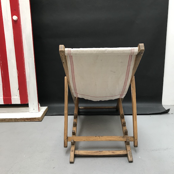 Picture of Wood and hemp deckchair