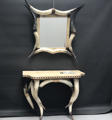 Picture of Console with mirror in horn and parchment