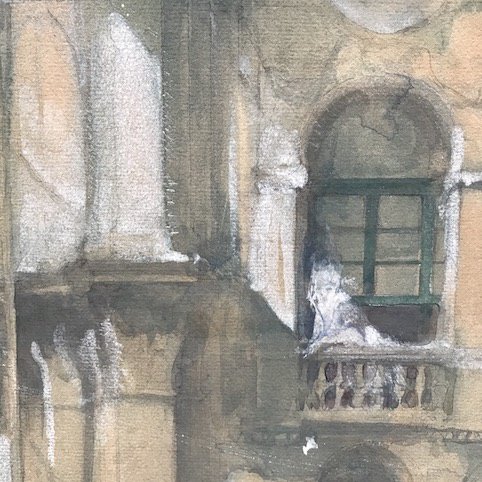 Picture of Set sketch painting Yard by Fratino