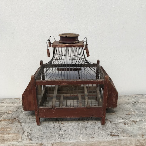 Picture of little red BIRDS CAGE