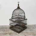 Picture of wooden dome square base birdcage