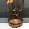 Picture of bamboo birdcage with butterfly
