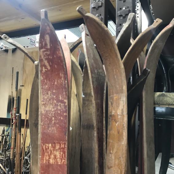 Picture of Wooden vintage ski