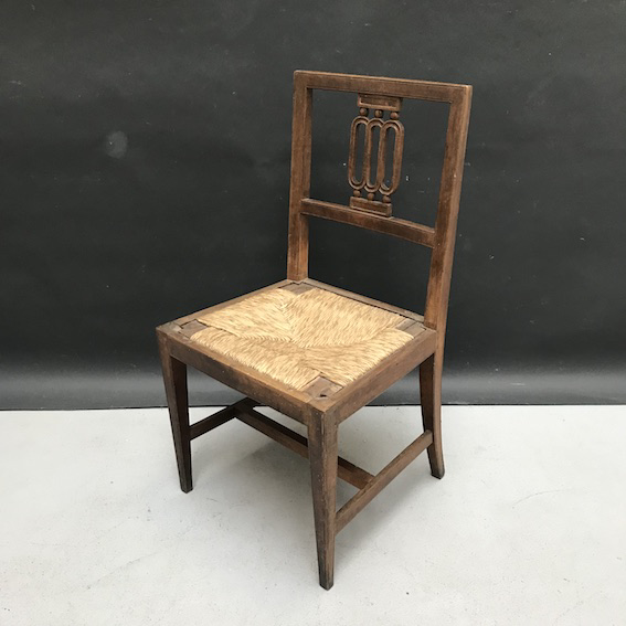 Picture of Louis XVI Chair Walnut and straw