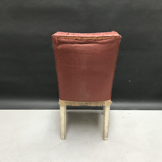 Picture of pink silk chair
