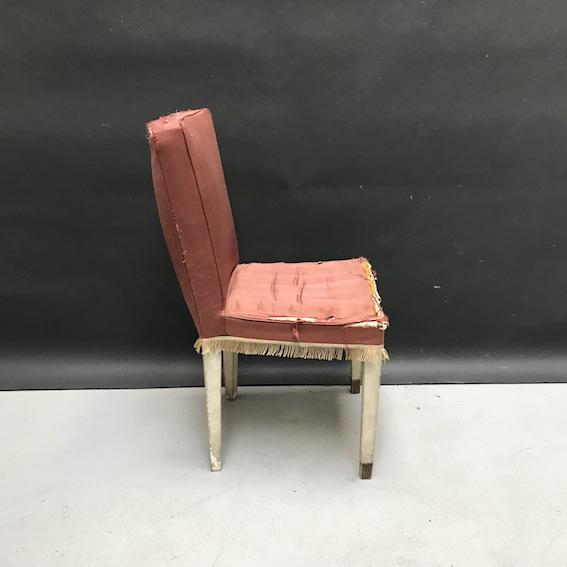 Immagine di sedia seta rosa