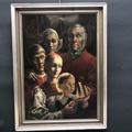Immagine di Dipinto ad olio Ritratto di famiglia con modello di veliero di G.A.J