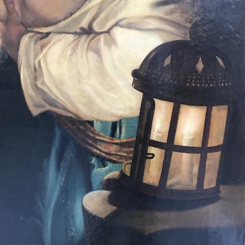 Immagine di Dipinto ad olio Cimone e Pero o la Carità Romana